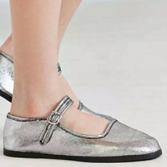 Urban Outfitters Shoes New Urban Outfitters Mary Jane Flats Metallic Poshmark
